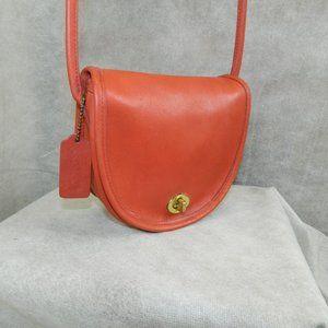 COACH Mini Bag #9825 Red Brass VINTAGE EXC